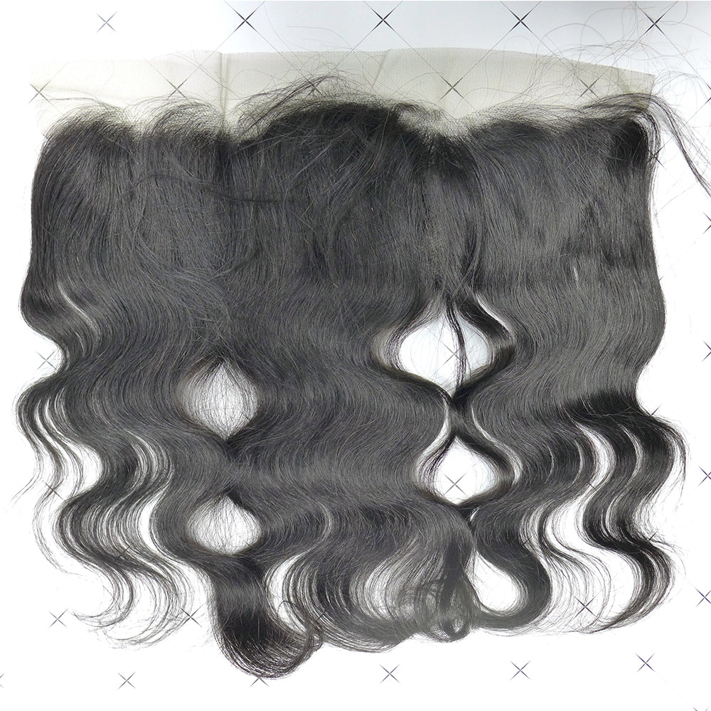 "Ear to ear lace frontal closure 13*4"" size natural black color"