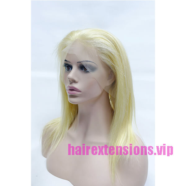 Blonde Human Hair Lace Front Wig