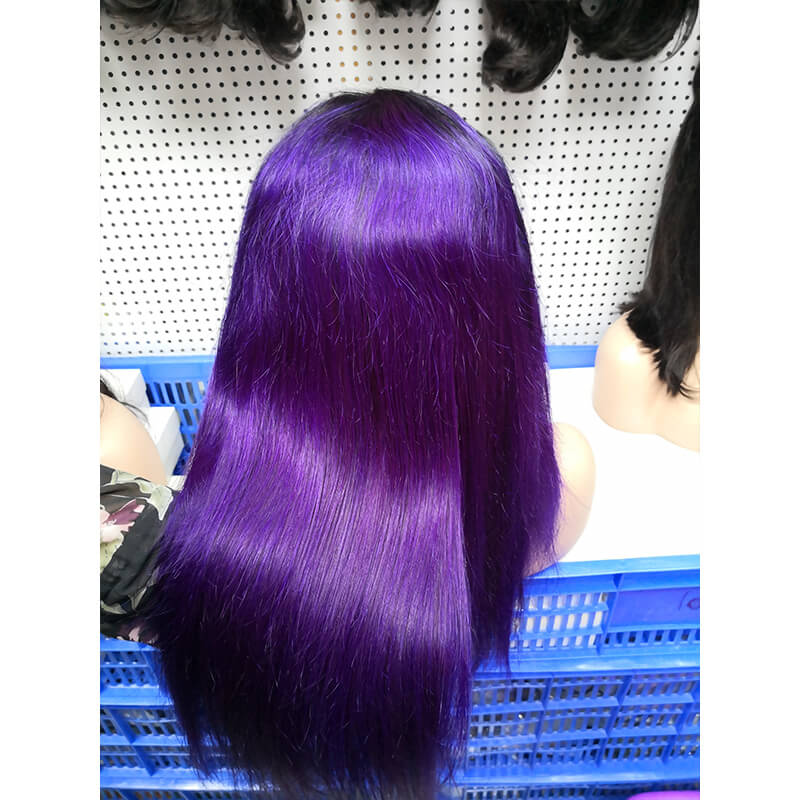 Lace Front Wig Color 1B/Purple