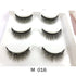 False Eyelashes 3 Pairs Magnetic Eyelashes With 1 Pc Magnetic Eyeliner and Tweezer Set Makeup