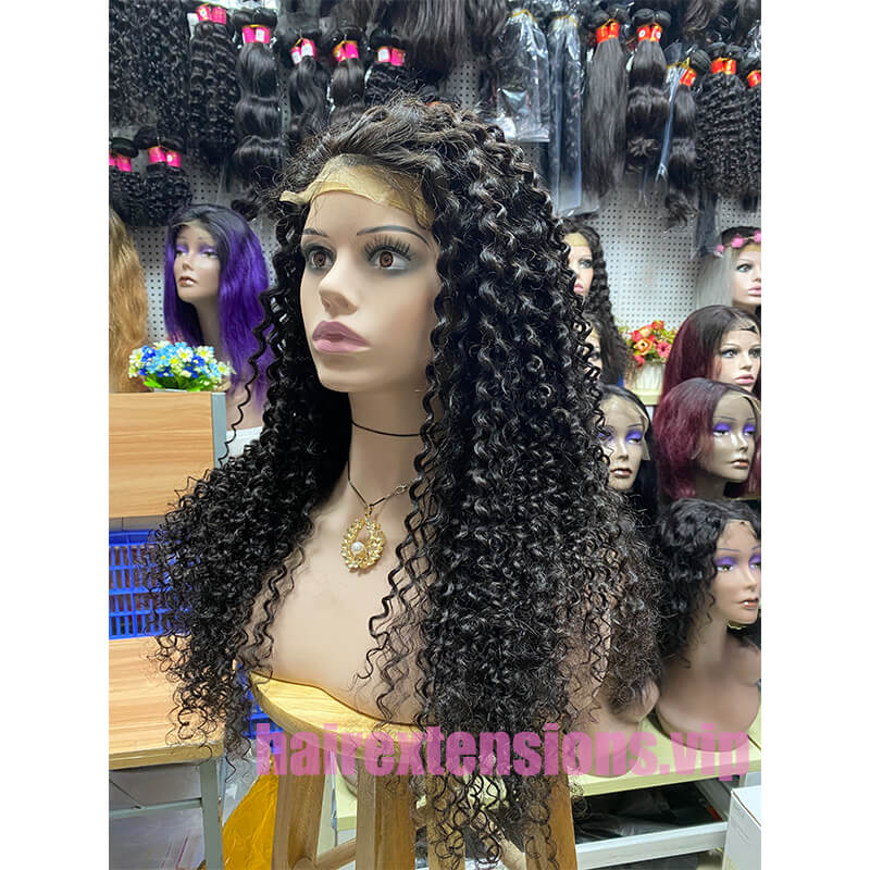 Big Curly Lace Front Wig High Density Black 28 inch