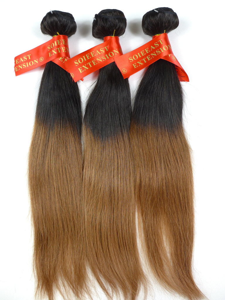 Color 1b30 1226 Human Hair Extensions Straight Ombre 100gram Per