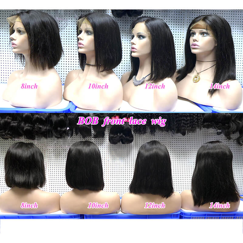 Bob Cut Lace Frontal Wig Virgin Human Hair