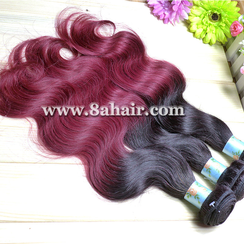 red ombre hair Extensions
