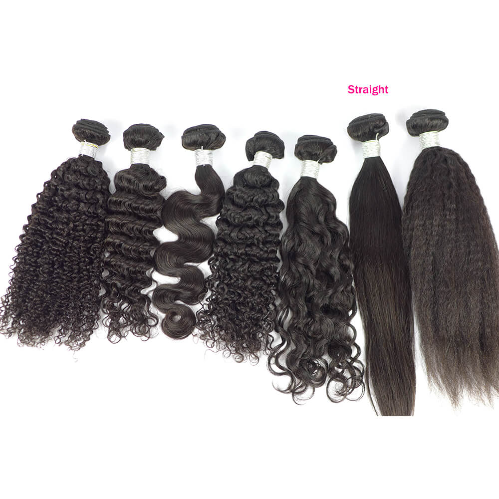 Luxury Virgin Brazilian Hair Bundle Straight Body Wave Deep Kinky Water KKS One Bundle Black Color