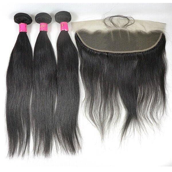 Straight Virgin Peruvian and  frontal