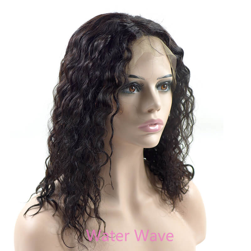 Bob Cut Lace Front Wig water wave