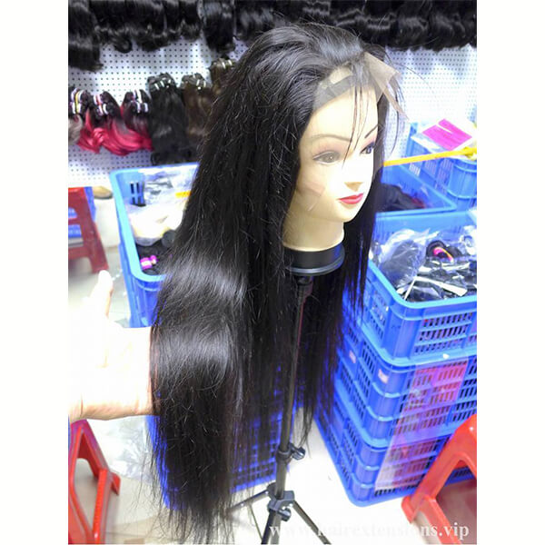 lace frontal wig straight black color