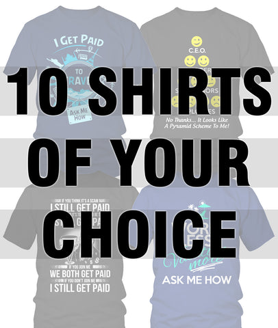 10 Shirts Bundle Pack - My MLM Shop