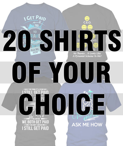 20 Shirts Bundle Pack - My MLM Shop