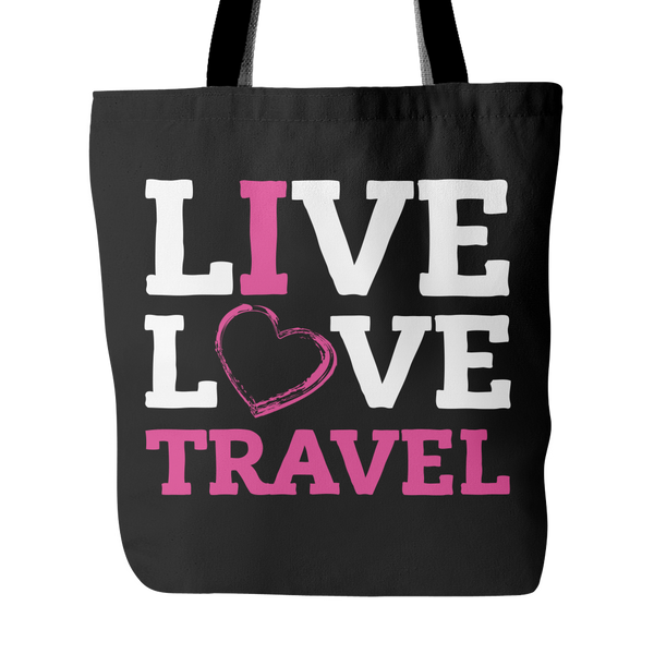 Live, Love, Travel - Tote Bag