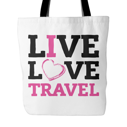 Live, Love, Travel - Tote Bag - My MLM Shop