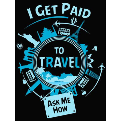 Get Paid To Travel - Sticker - My MLM Shop
