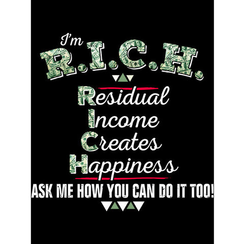R.I.C.H. Residual Income Creates Happiness - Sticker - My MLM Shop