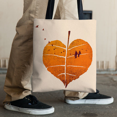 A Leaf In Love - Tote Bag