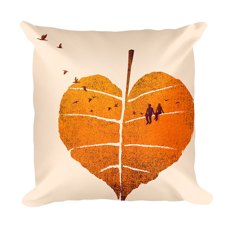 A Leaf In Love - Pillow