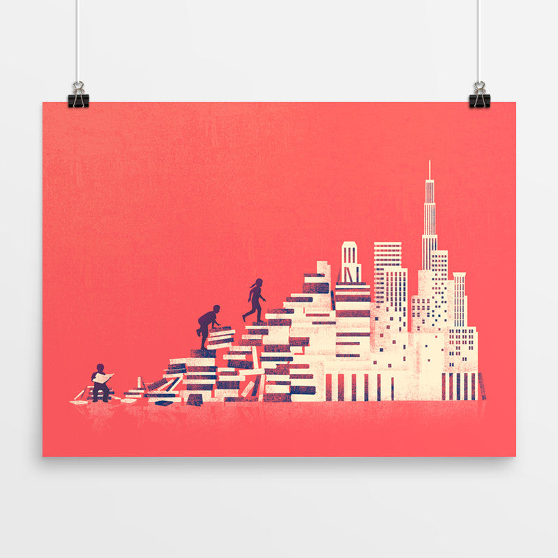Book City - Art Print