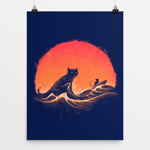 A Walk In The Night - Art Print