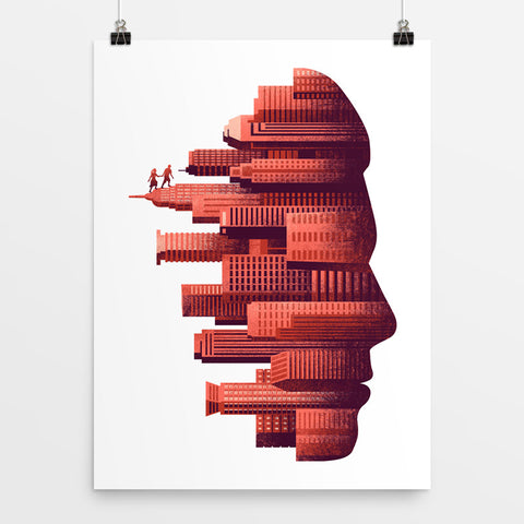 The Hanging City - Art Print