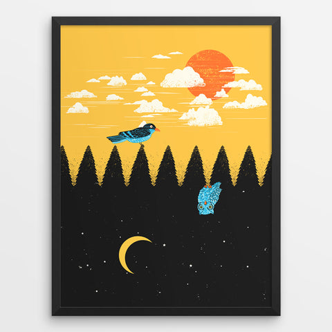 Day vs Night - Art Print