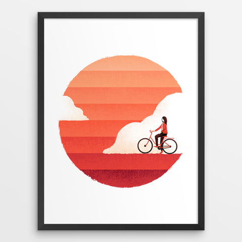 Riding On Sunshine - Art Print