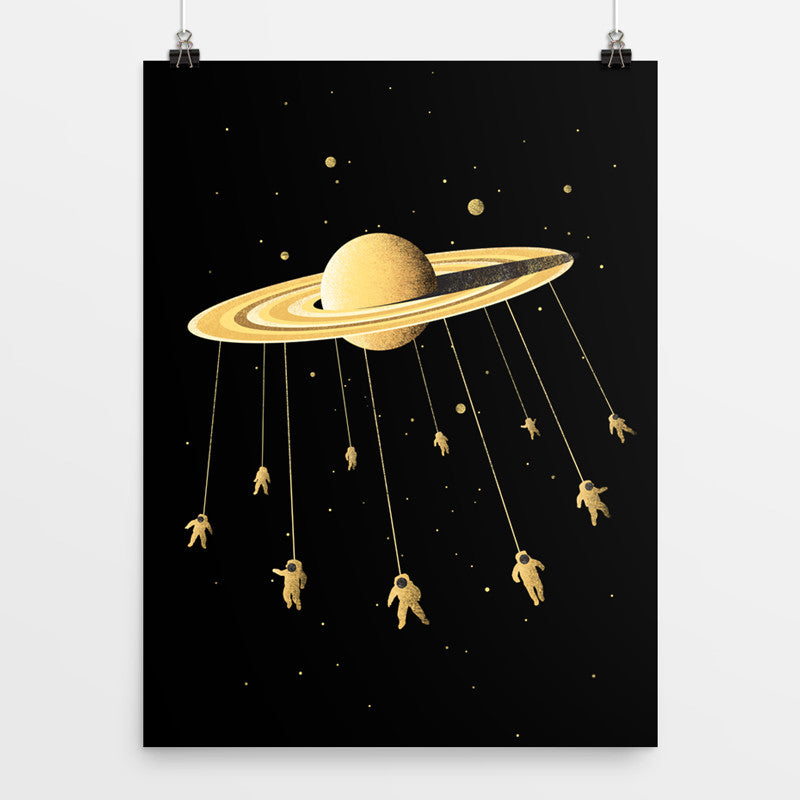 Space Carousel - Art Print