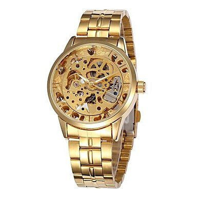 Emperor Skeleton Gold Luxury Watch Chain Strap Lord Timepieces