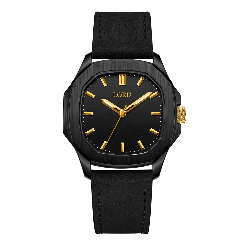 Lord-timepieces-astro-black-gold-watch-front