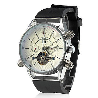 Arctic Watch White Dial Black Rubber Band