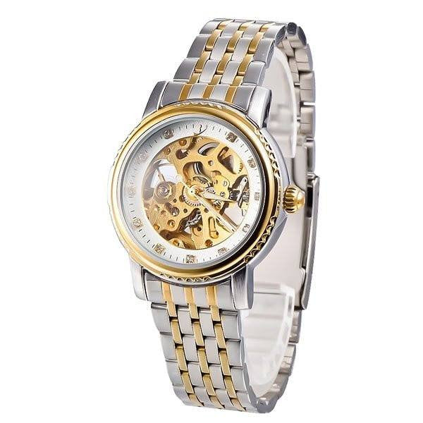 Elixir Chain Two Tone Strap Golden Silver Watch