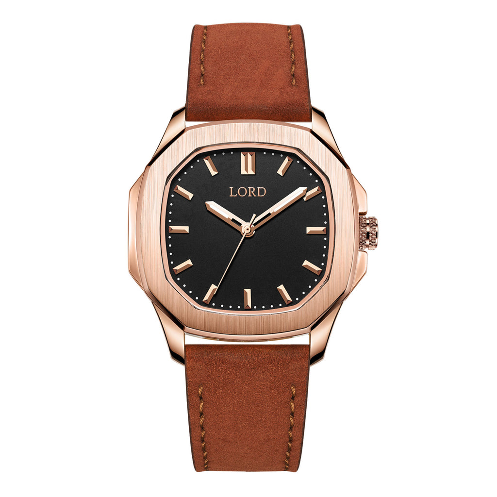 Lord-timepieces-astro-rose-gold-brown-watch-front