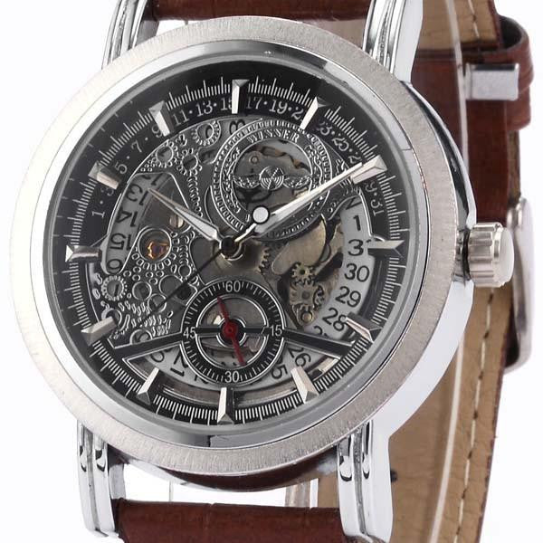 Silver Brown Watch | Men's Watches | Lord Timepieces Close Front