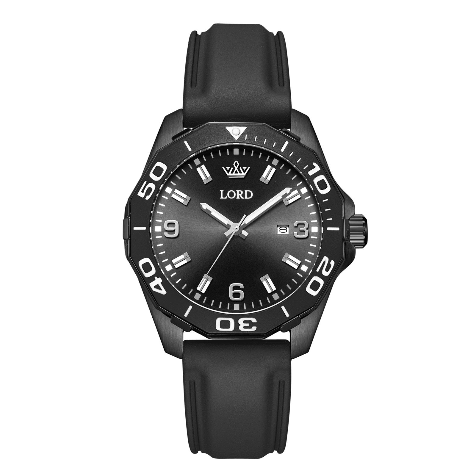 Lordtimepieces-Sport-Black-Silicone-watch-Front
