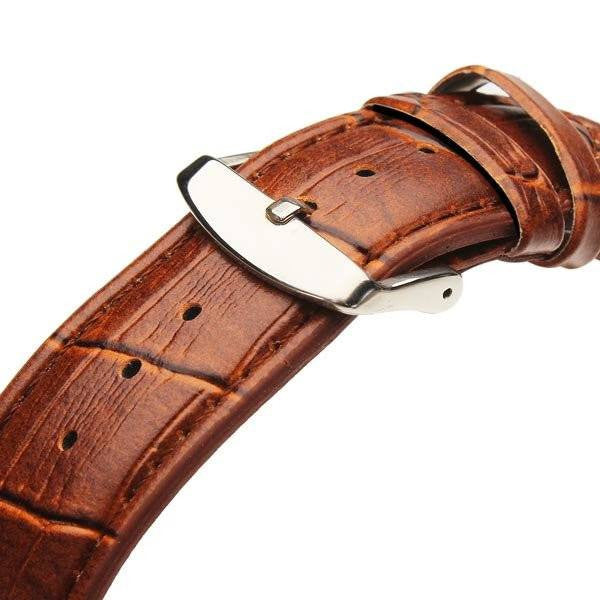 Euston Luxury Designer Watch Tan Leather Strap Gold Face Clasp