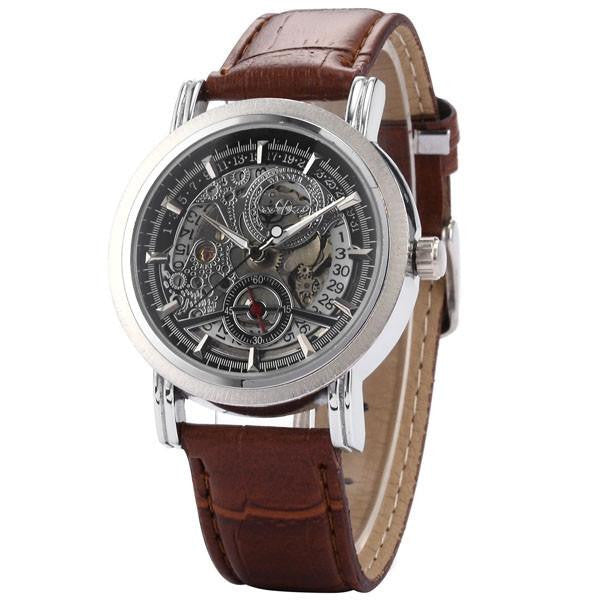 Silver Brown Watch | Men's Watches | Lord Timepieces