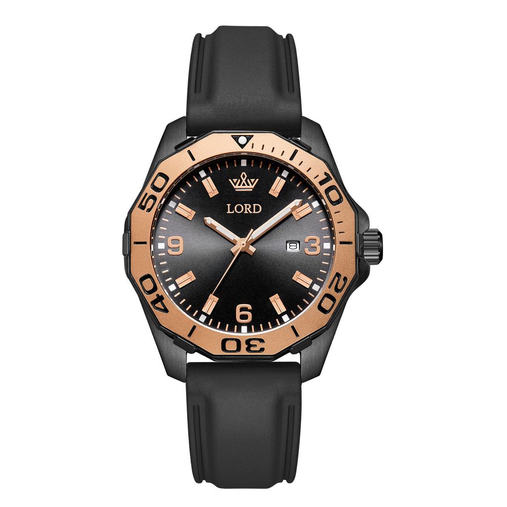 Lordtimepieces-Sport-Black-Link-watch-Silicone-Front