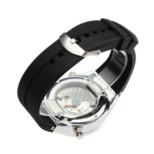 Arctic Watch White Dial Black Rubber Band Strap