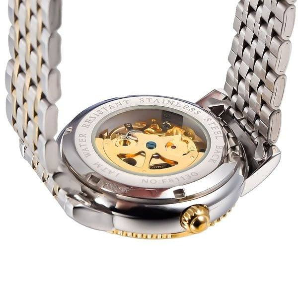 Elixir Chain Skeleton Two Tone Strap Golden Silver Watch