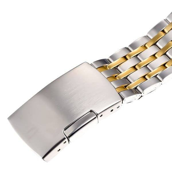 Elixir Chain Skeleton Two Tone Strap Golden Silver Watch Strap Closure