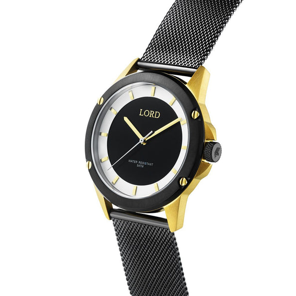 Black/White-Gold-Watch-strap