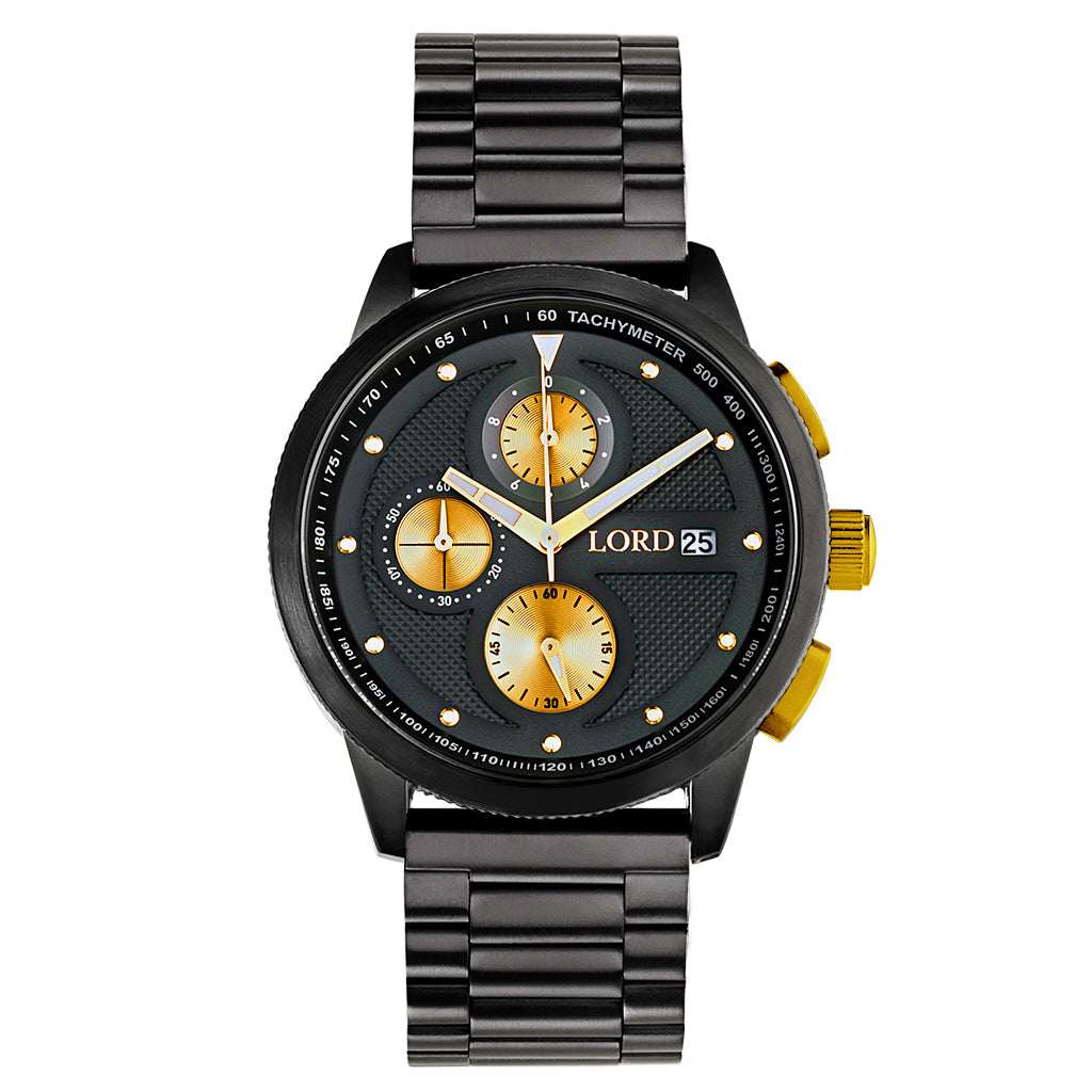Lordtimepieces-Chrono-Black-Gold-watch-Front