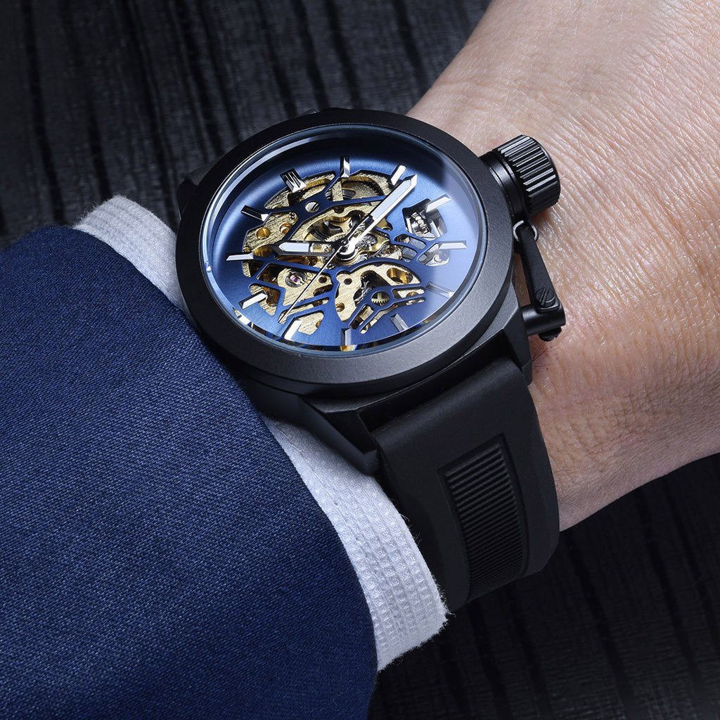Gold Blue Watch | Men's Watches |  Lord Timepieces on hand