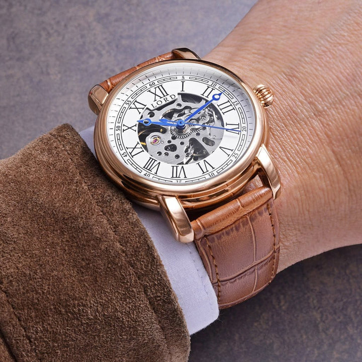 White Gold Heritage Watch | Men's Watches |  Lord Timepieces on hand