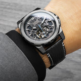 Lordtimepieces-Orion-Gunmetal-Leather-watch-wrist