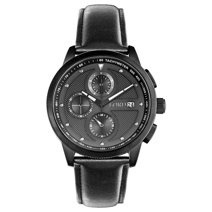 Lordtimepieces-Chrono-Black-watch-Front