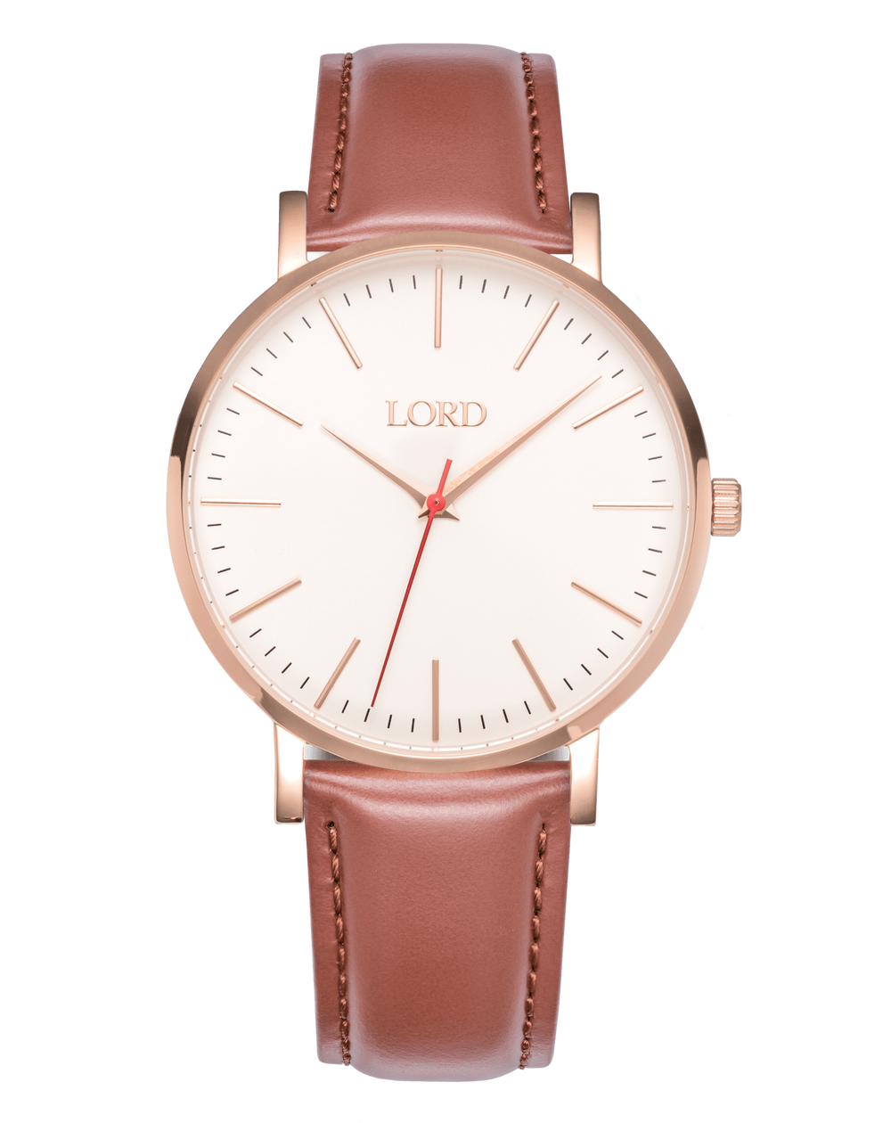 Rose gold tan watch men 39 s watches lord timepieces for Lord timepieces