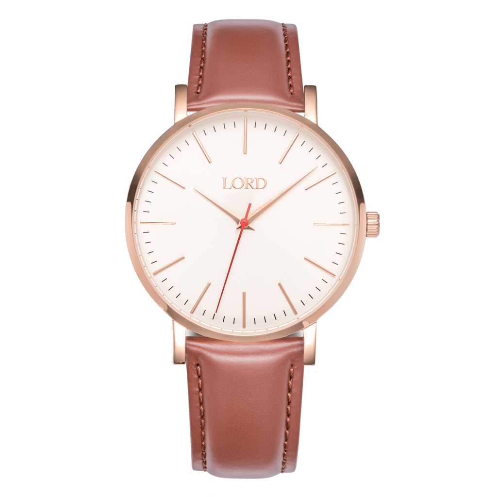 Rose Gold Tan Watch | Men's Watches | Lord Timepieces