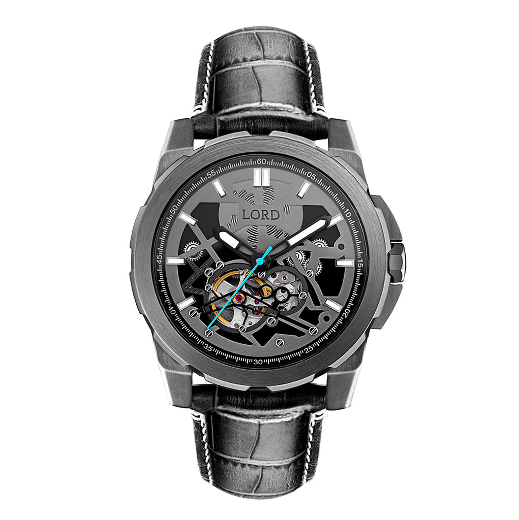 Lordtimepieces-Orion-Gunmetal-Leather-watch-Front