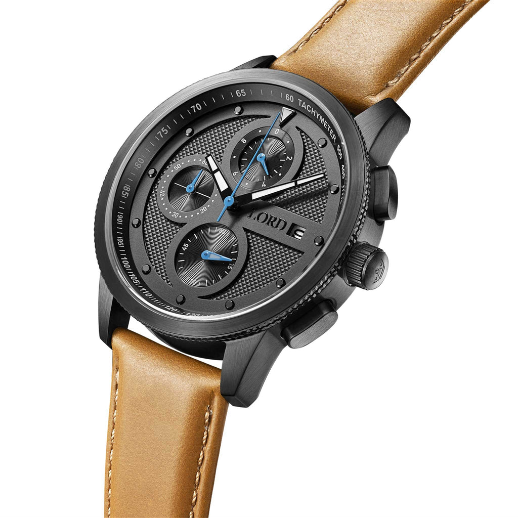 Lordtimepieces-Chrono-Gunmetal-tan-watch-3d