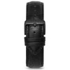 22mm Black Croc Leather